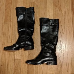 Black Ann Taylor High Knee boots